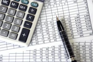 small business accounting sheets and calculator