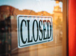 temporary business closure